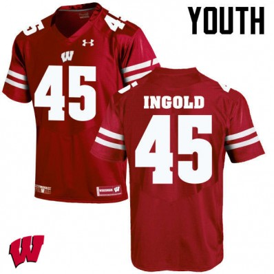 Alec Ingold Wisconsin Badgers Football Jersey White