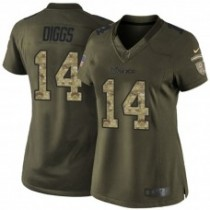 Stefon Diggs Minnesota Vikings Salute To Service Limited Jersey - Olive